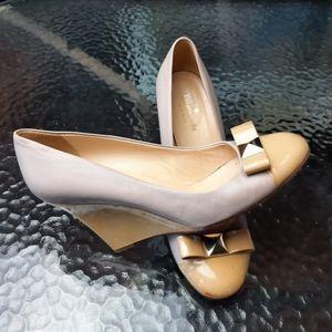 Kate Spade leather wedge platforms heels  Italy